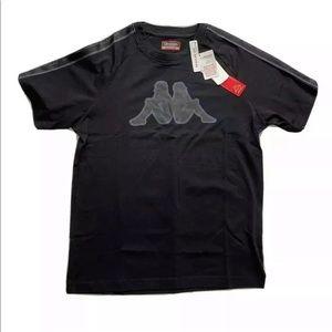 Kappa Logo Tape Avirec Black T-Shirt